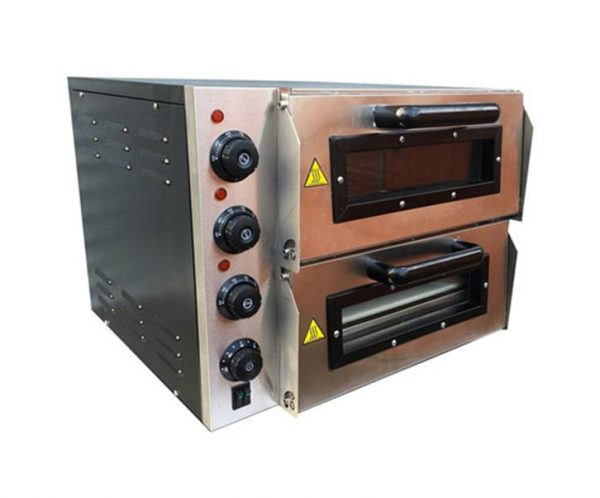 """Infernus 2-deck Stainless Steel Electric Pizza Oven 16"""""""